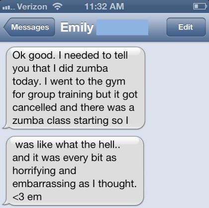 Thank you Emily, at least I know I won't be alone :)