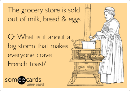 milk and bread outage