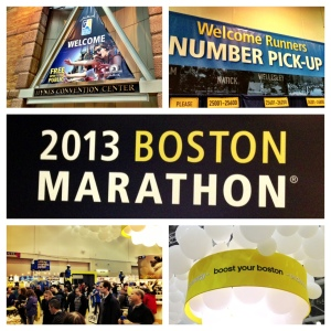Boston Marathon Expo. Attending this alone delivers a runners high