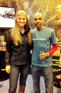 With Olympian and legendary American marathoner Meb