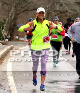 Hyannis Half Marathon 2014. Was the rare occurrence where I dressed correctly for the weather.