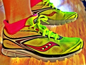 Giving the Saucony Kinvaras a whirl